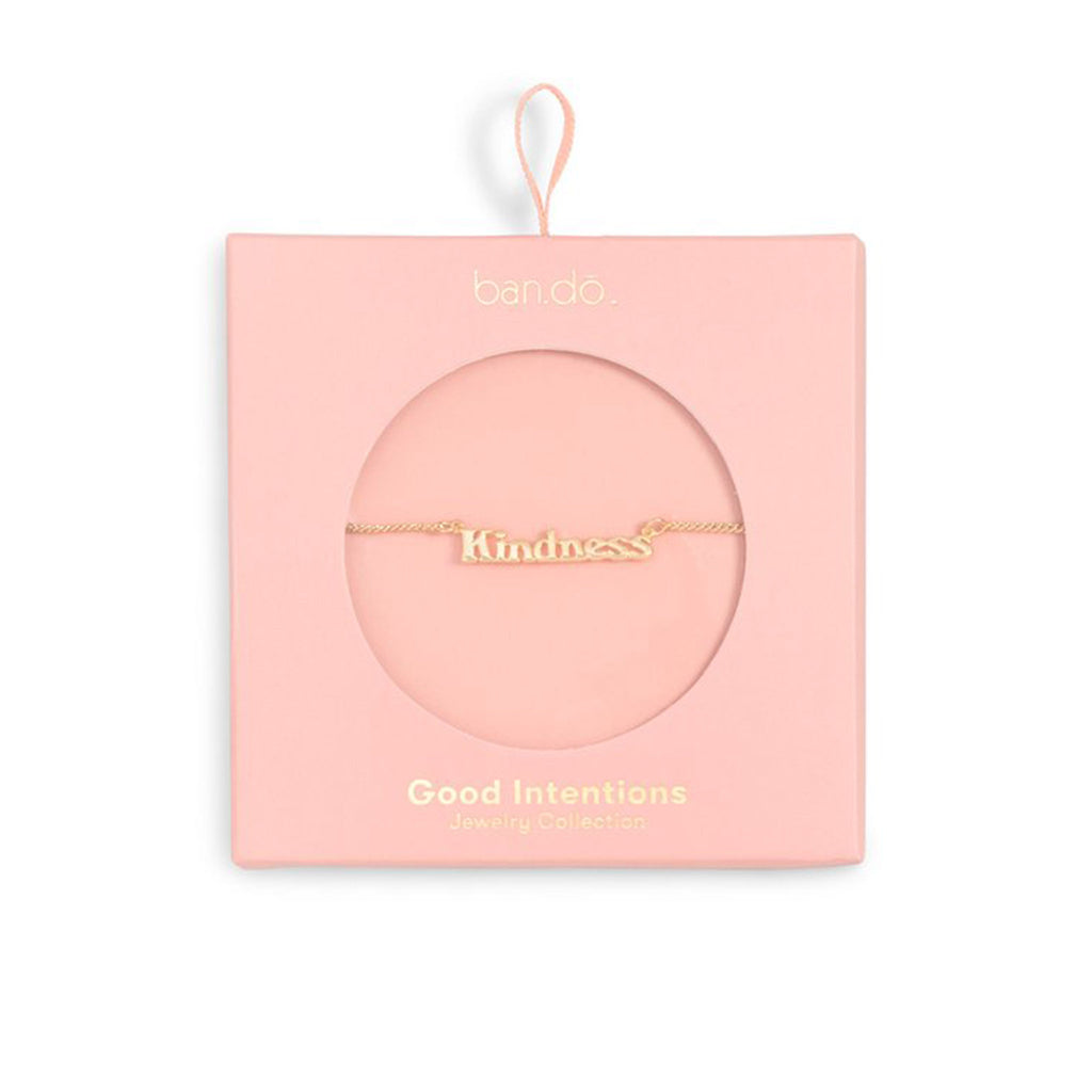 bando good intentions jewelry collection kindness necklace in pink box