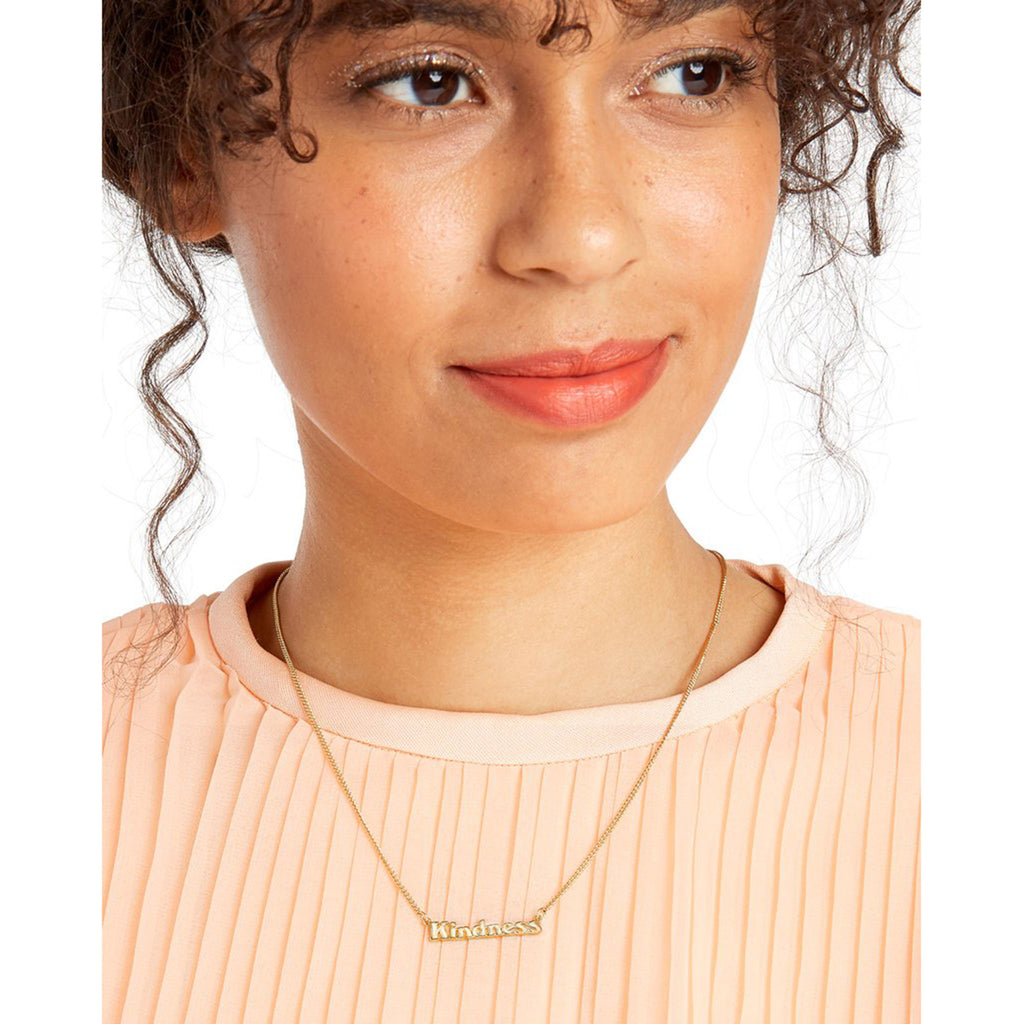 bando good intentions jewelry collection kindness necklace on model