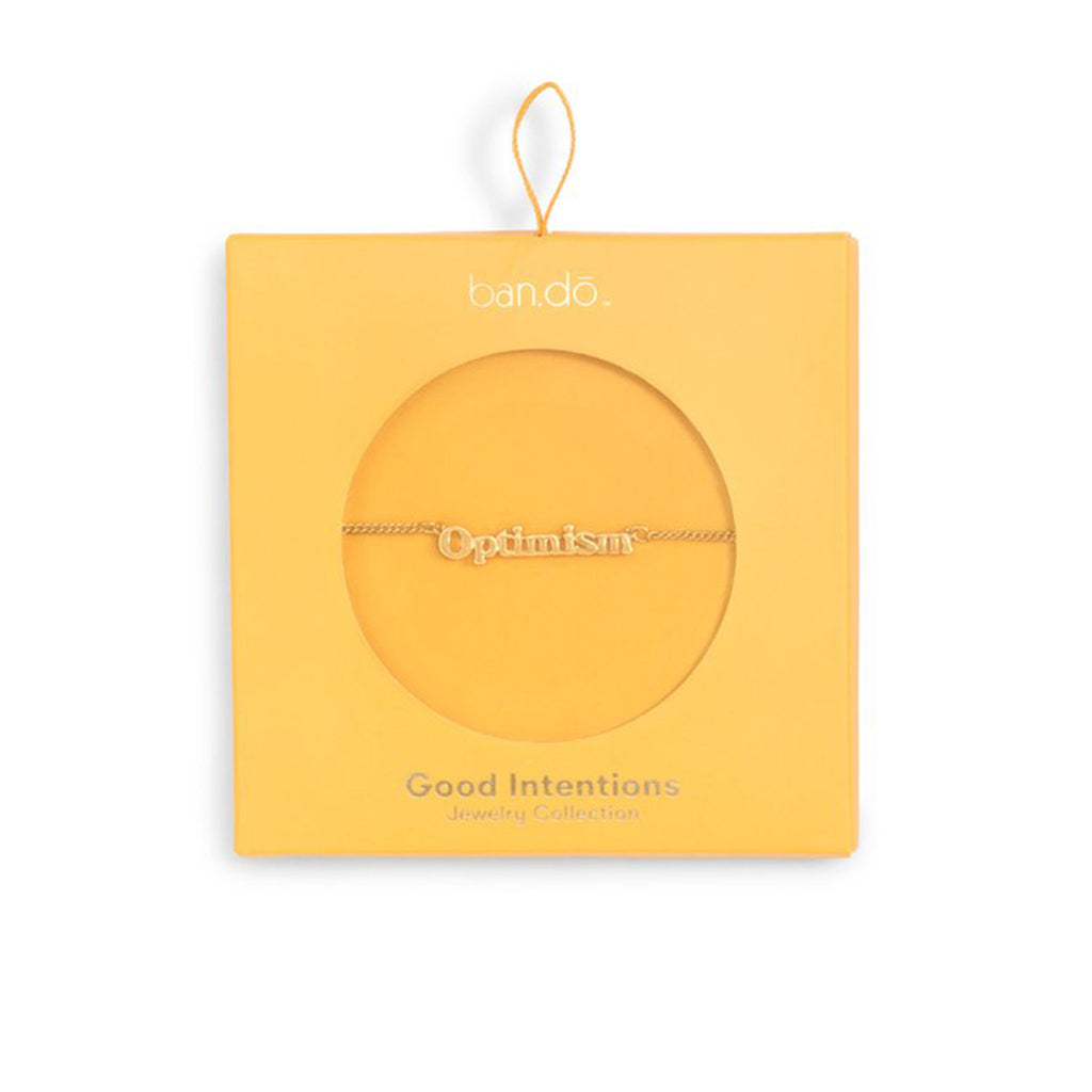bando good intentions jewelry collection optimism necklace in yellow box