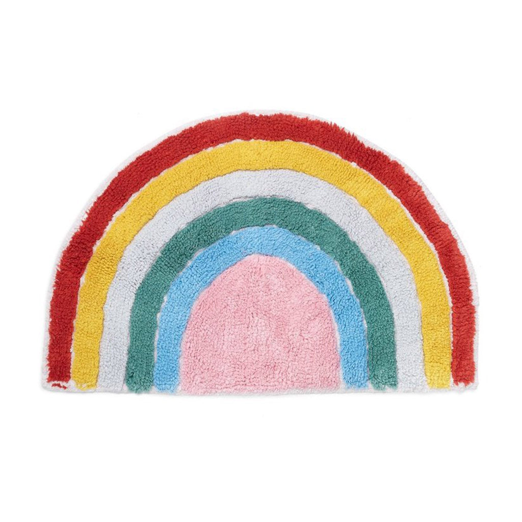 bando rainbow floor mat rug on white background