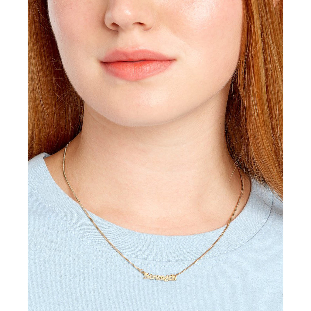 bando good intentions jewelry collection strength necklace on model