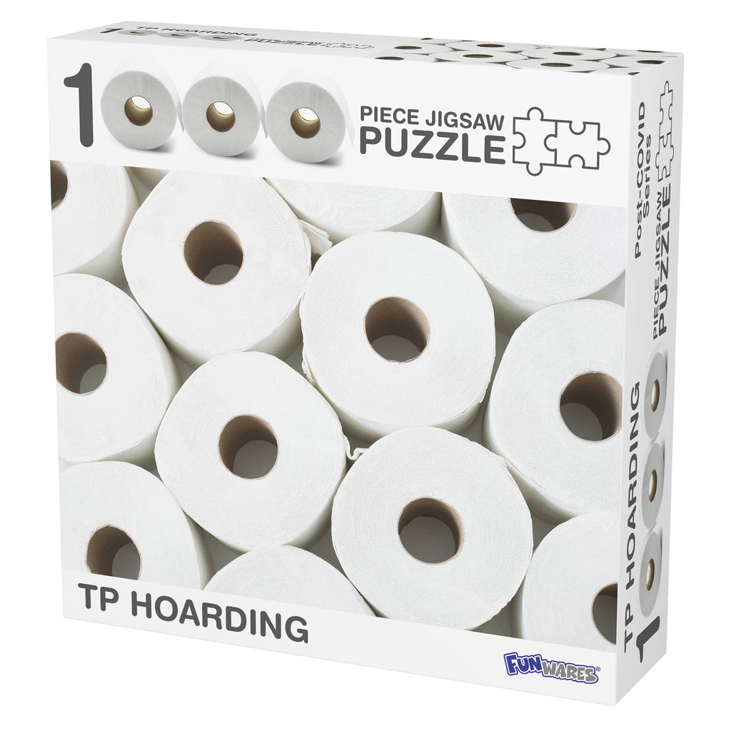 barbuzzo & funwares 1000 piece toilet paper tp hoarding jigsaw puzzle box front on angle