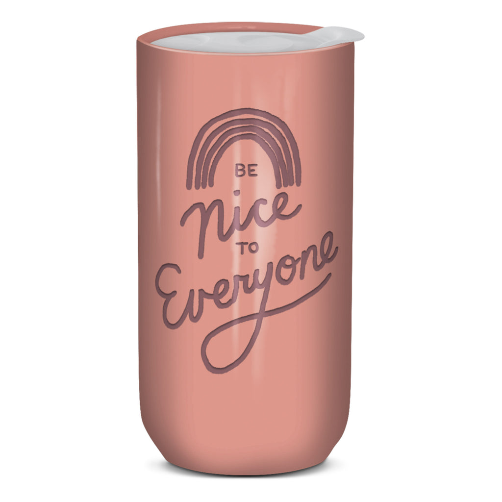 molly and rex be nice to everyone insulated travel mug