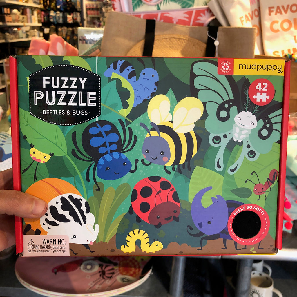 42 Piece Beetles and Bugs Fuzzy Jigsaw Puzzle