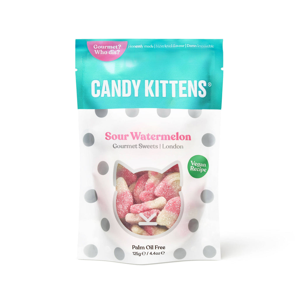 belgiums chocolate source sour watermelon flavored candy kittens gummy candy gourmet sweets gummies in resealable bag