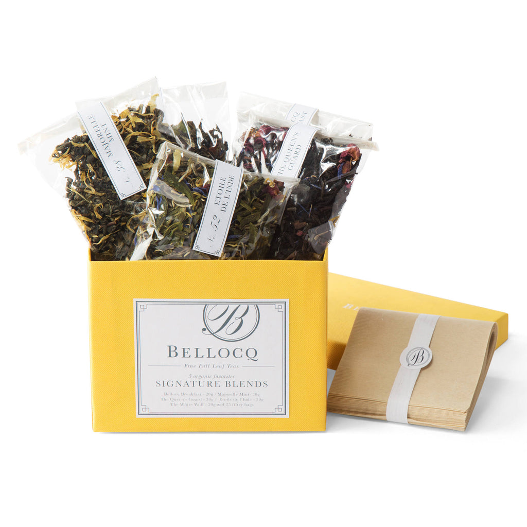 bellocq signature blends sample box with teas