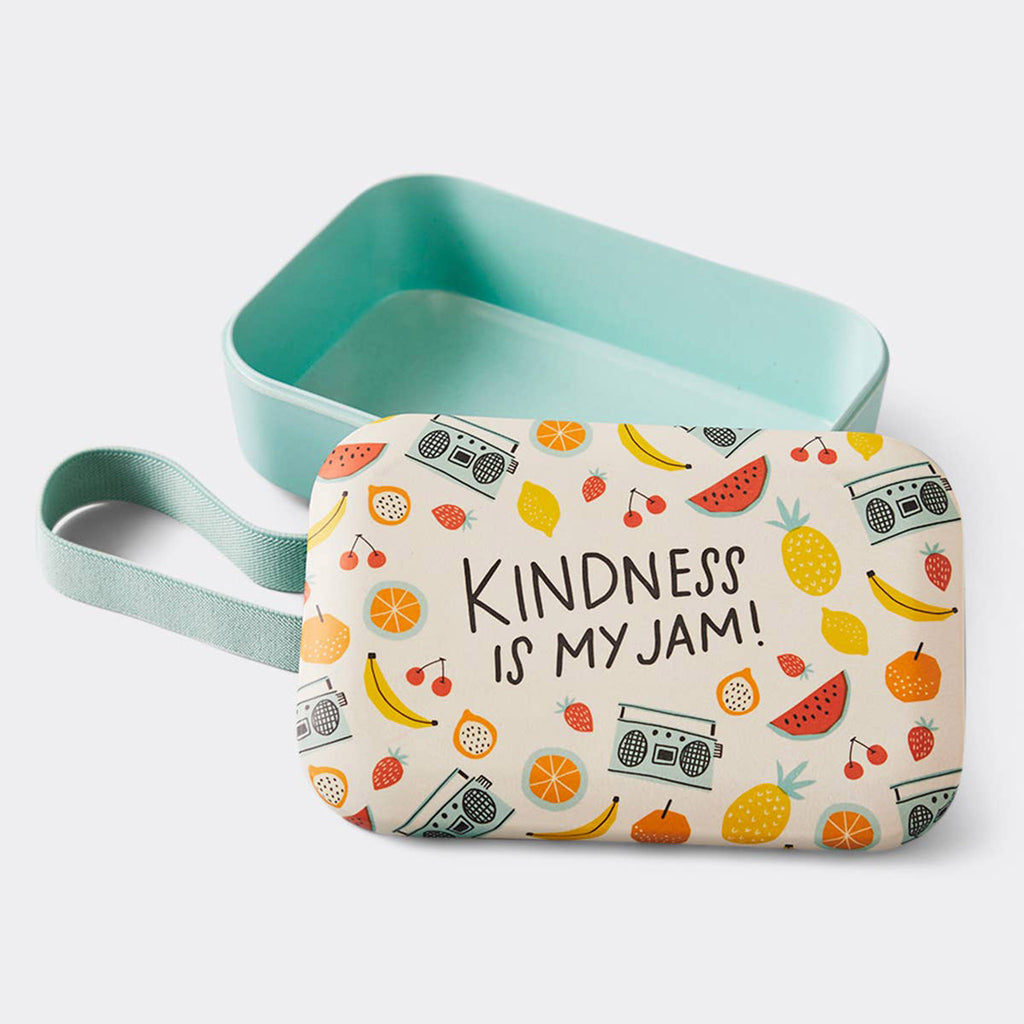 boon supply kindness is my jam eco-friendly bamboo blend lunch container lunchbox with lid