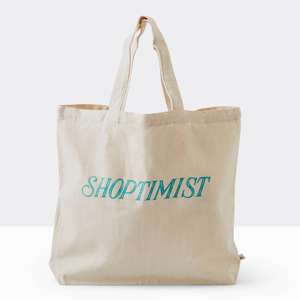boon supply shoptimist cotton canvas reusable tote shopping bag