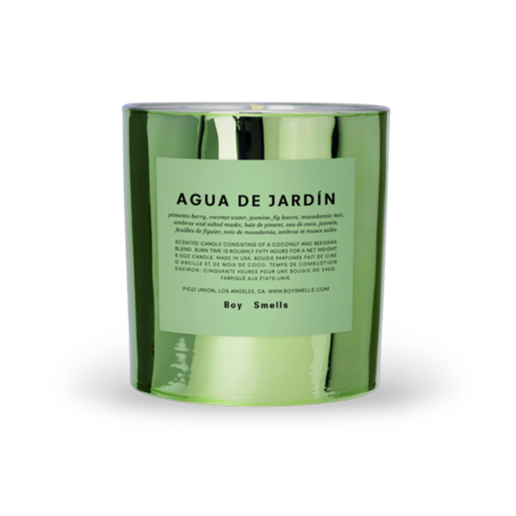 boy smells hypernature limited edition agua de jardin scented coconut beeswax blend candle