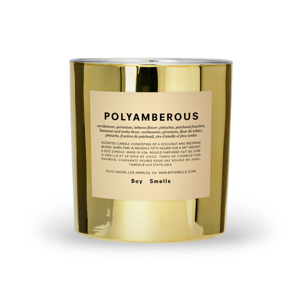 boy smells hypernature limited edition polyamberous scented coconut beeswax blend candle