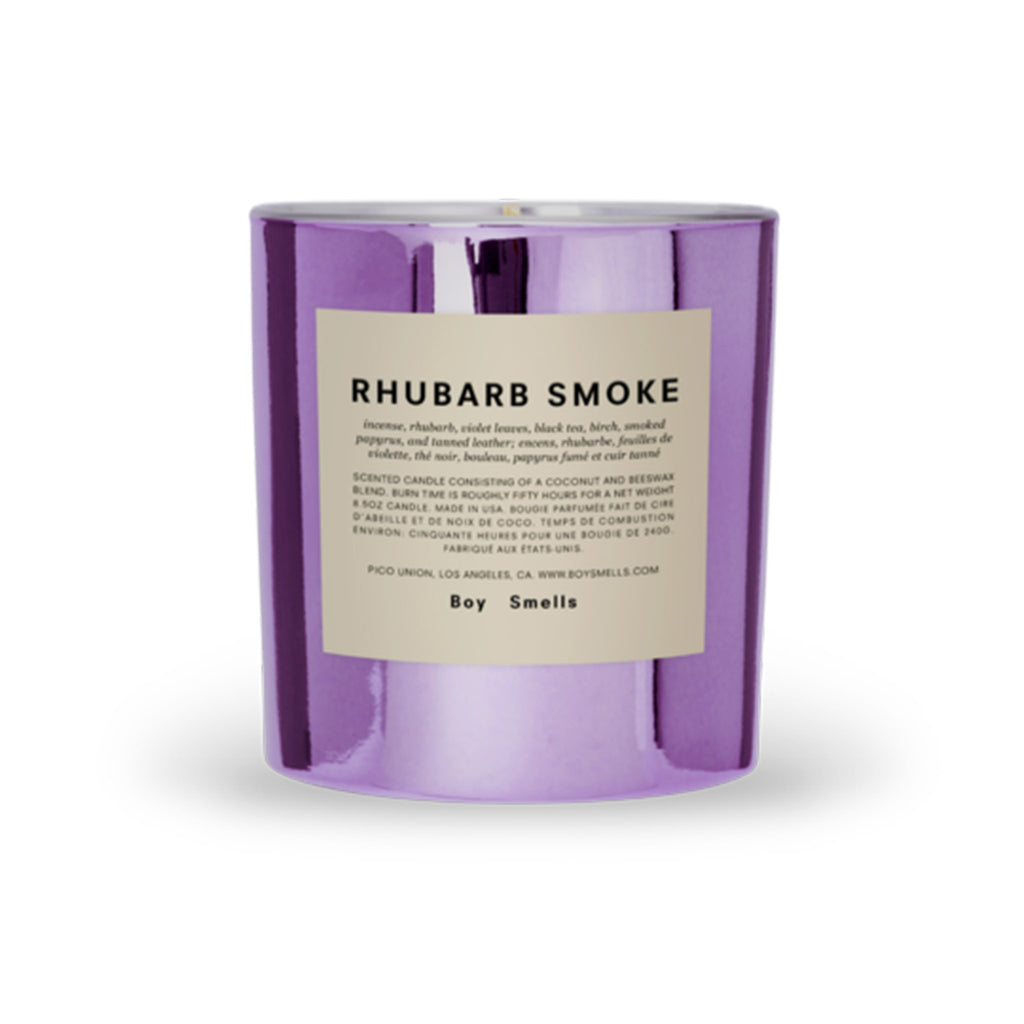 boy smells hypernature limited edition rhubarb smoke scented coconut beeswax blend candle