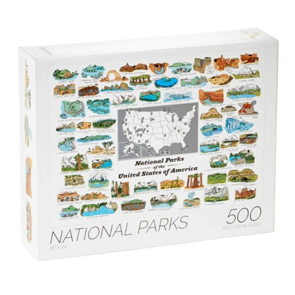 500 piece national parks of the united states jigsaw puzzle