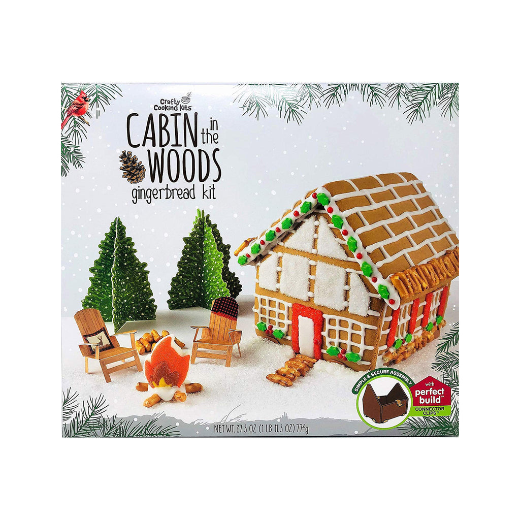 brand castle cabin in the woods gingerbread house kit box