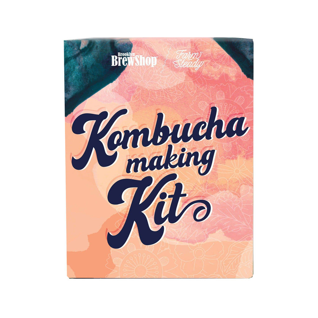 brooklyn brewshop farmsteady green tea kombucha making kit box front
