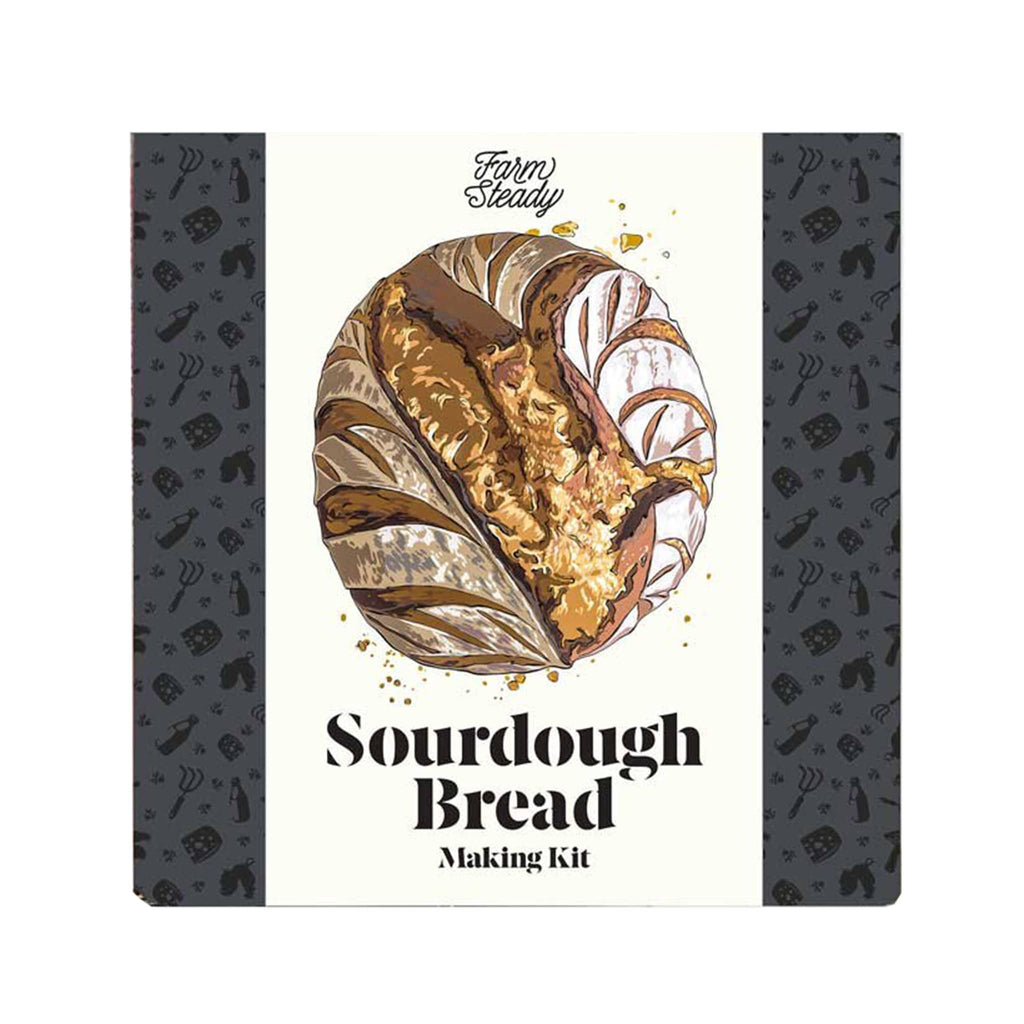 brooklyn brew shop farm steady sourdough bread making kit in packaging box front