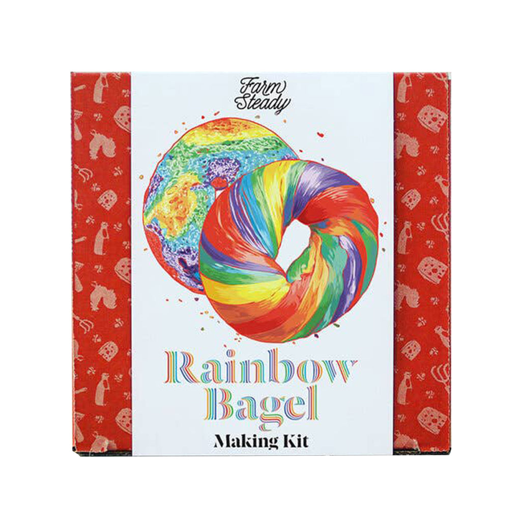 brooklyn brewshop farmsteady rainbow bagel making kit adult diy make your own in packaging