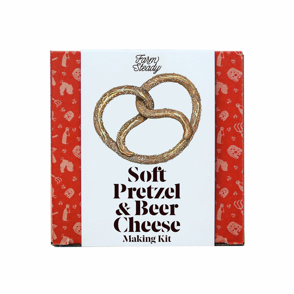 brooklyn brewshop soft pretzel and beer cheese making kit adult diy make your own pretzels