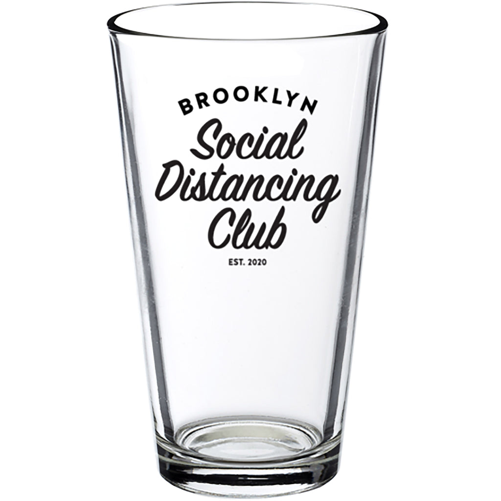 Brooklyn Social Distancing Club Pint Glass (PRE-ORDER, shipping 6/4)