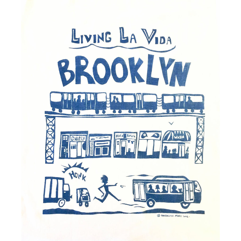 living la vida brooklyn royal blue kitchen towel