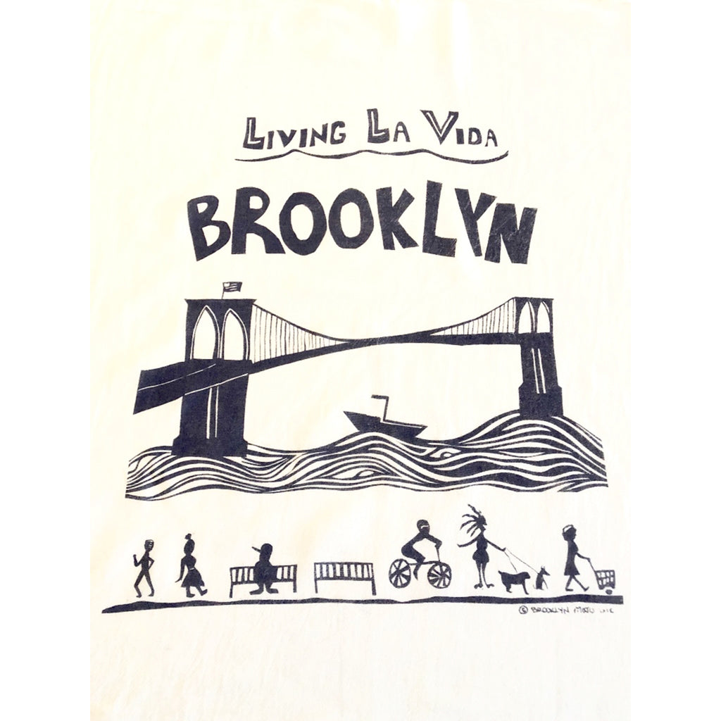 living la vida brooklyn dark purple kitchen towel