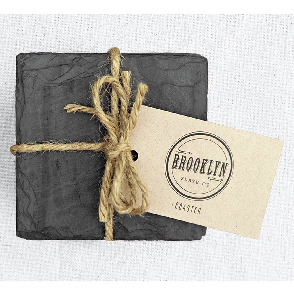black slate beverage coasters