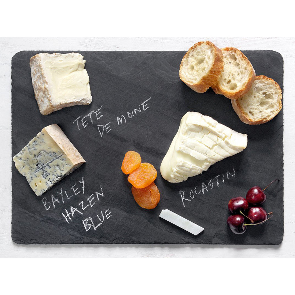 large black slate cheese board