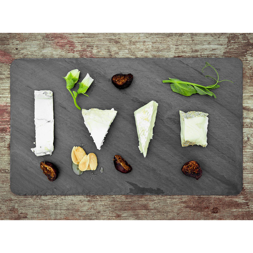 small black slate cheese board