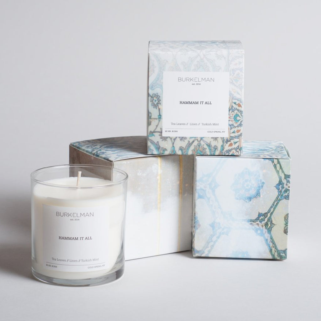 burkelman hammam it all candle with boxes