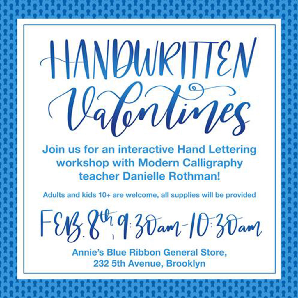 Handwritten Valentines Workshop with Danielle Rothman