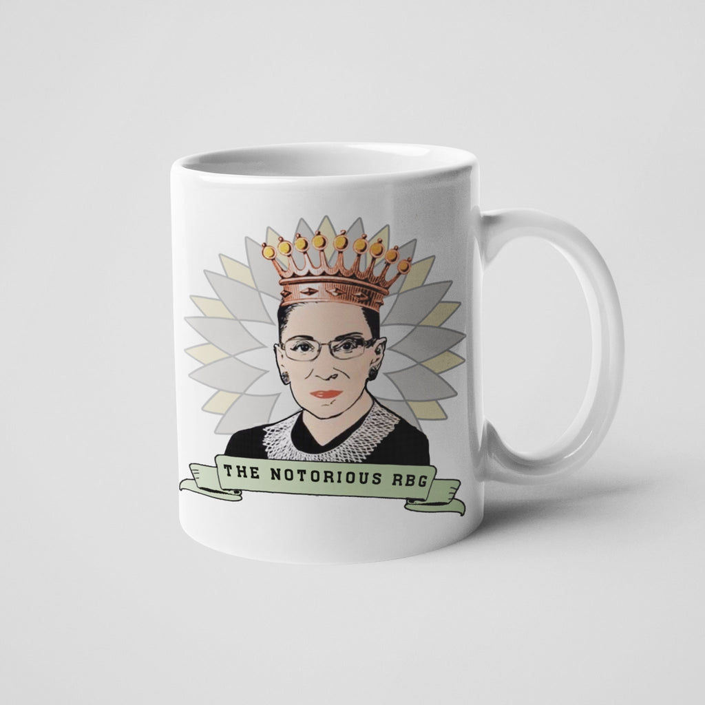 calm down caren rbg ruth bader ginsburg supreme court justice white ceramic coffee mug