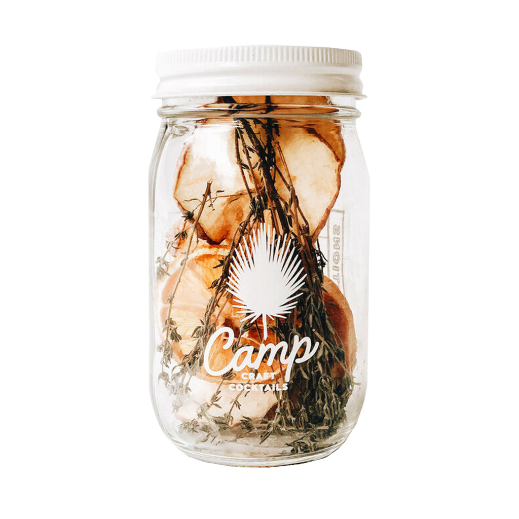 camp craft cocktails mountain pass cocktail kit in glass mason jar
