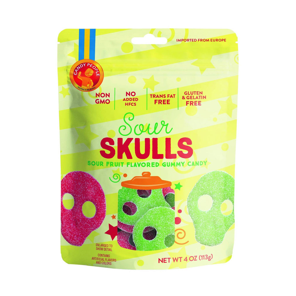 candy people usa sour skulls gummy candy in packaging