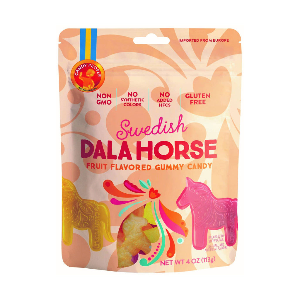 candy people usa swedish dala horse fruit flavored gummy candy in resealable pouch packaging