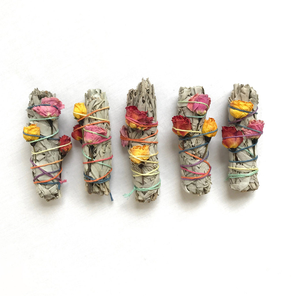 catherine rising small floral sage smudge sticks group