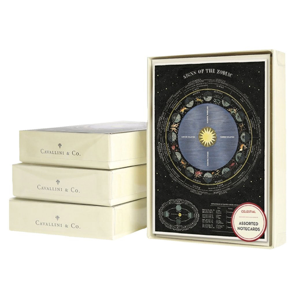 cavallini assorted celestial notecards box front