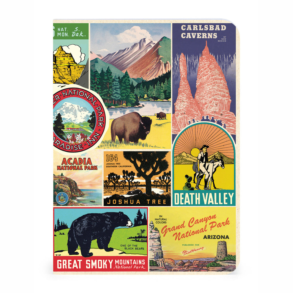 cavallini national parks mini notebooks journals set of three cover 2