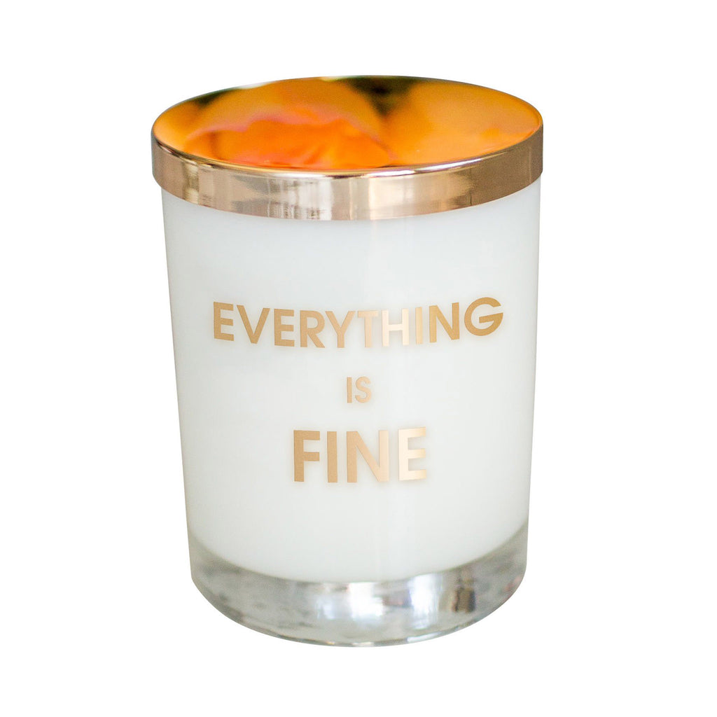 chez gagne everything is fine candle in rocks glass