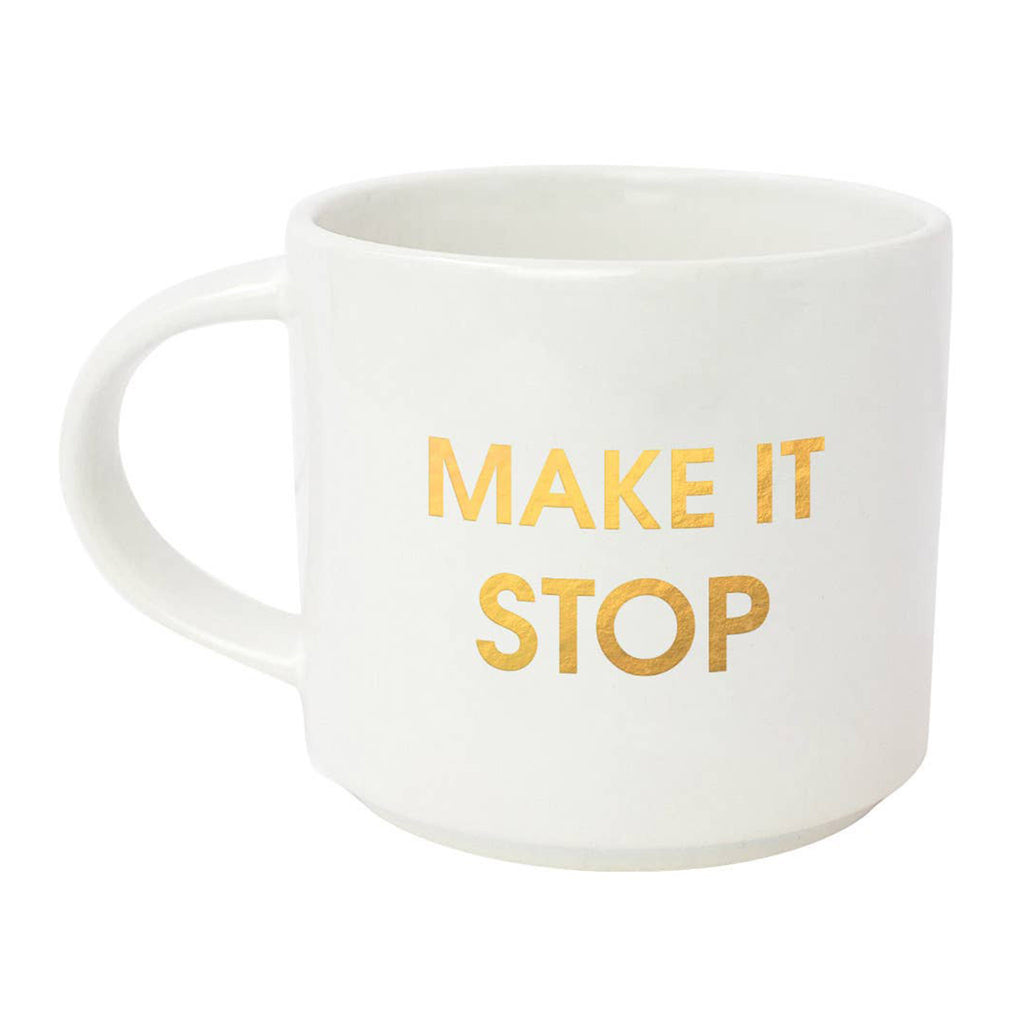 chez gagne make it stop jumbo stackable ceramic coffee mug