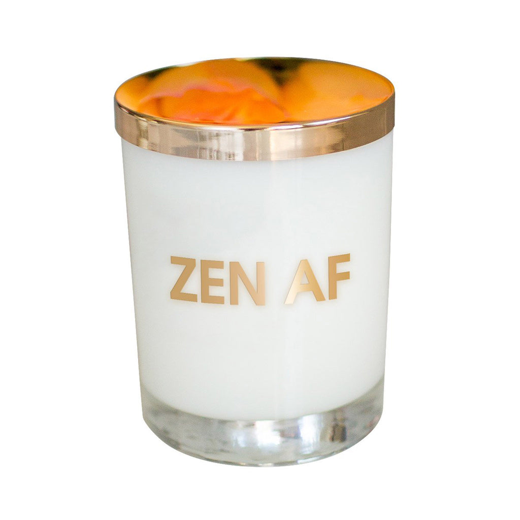 chez gagne zen af candle in rocks glass