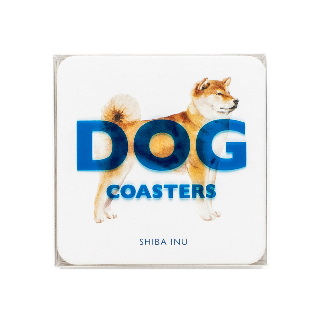 chronicle abrams dog breed beverage drink coasters in packaging