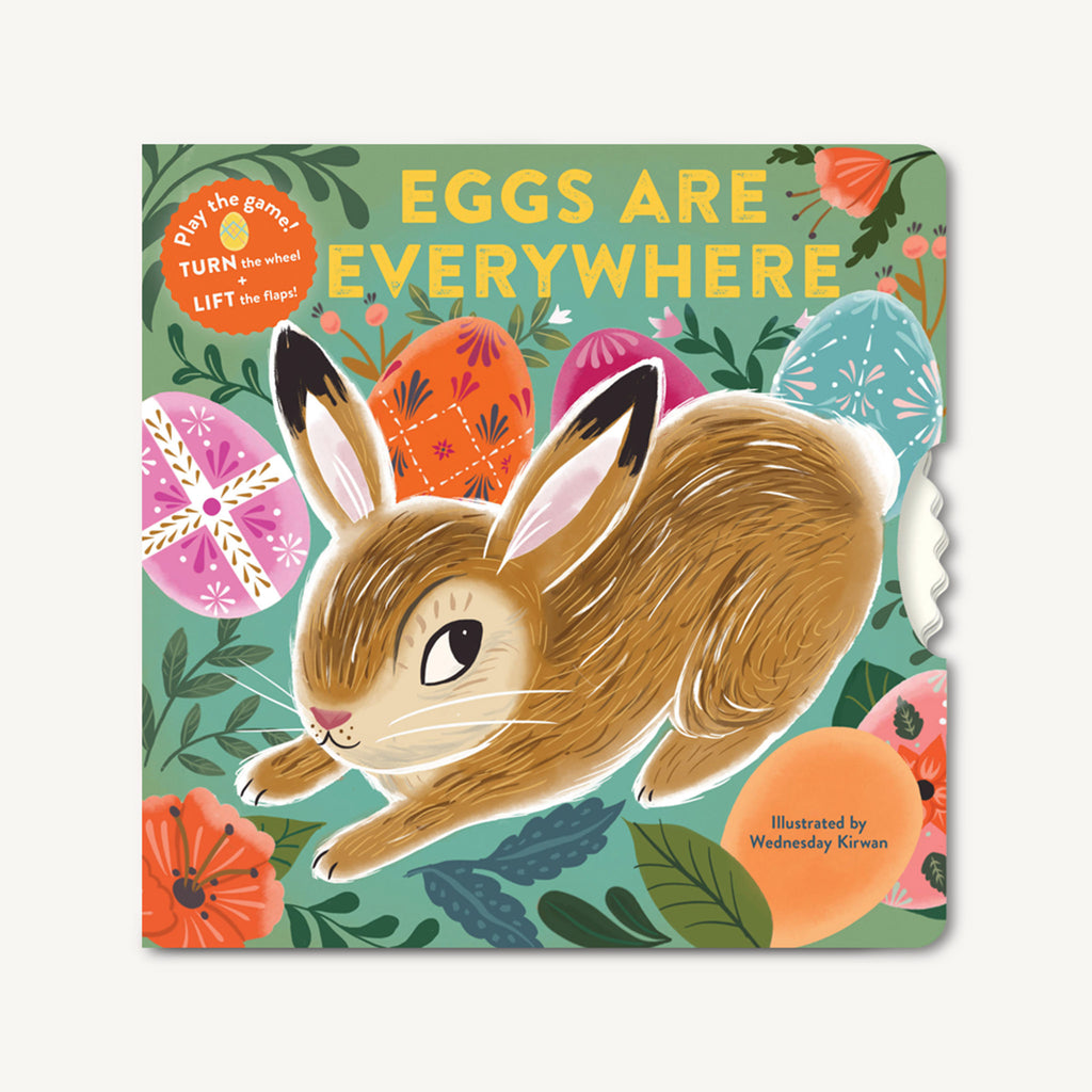chronicle eggs are everywhere interactive easter baby board book cover