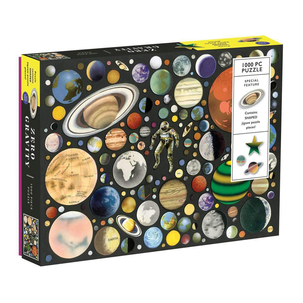 chronicle galison 1000 piece ben giles zero gravity jigsaw puzzle with shaped pieces box front angle