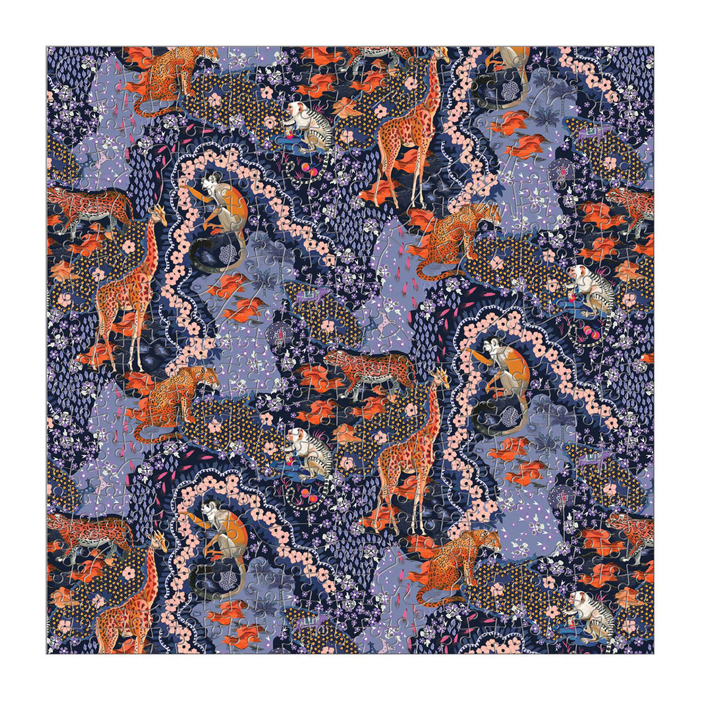 chronicle galison 500 piece liberty london maxine double-sided jigsaw puzzle matte side completed