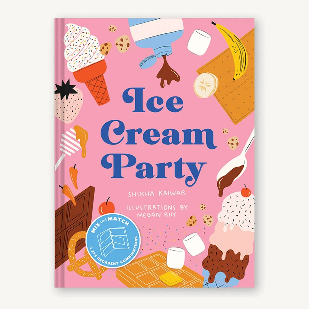 chronicle ice cream party mix & match spiral bound recipe cookbook cover