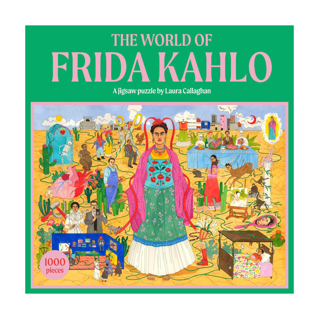 chronicle laurence king 1000 piece the world of frida kahlo jigsaw puzzle box front