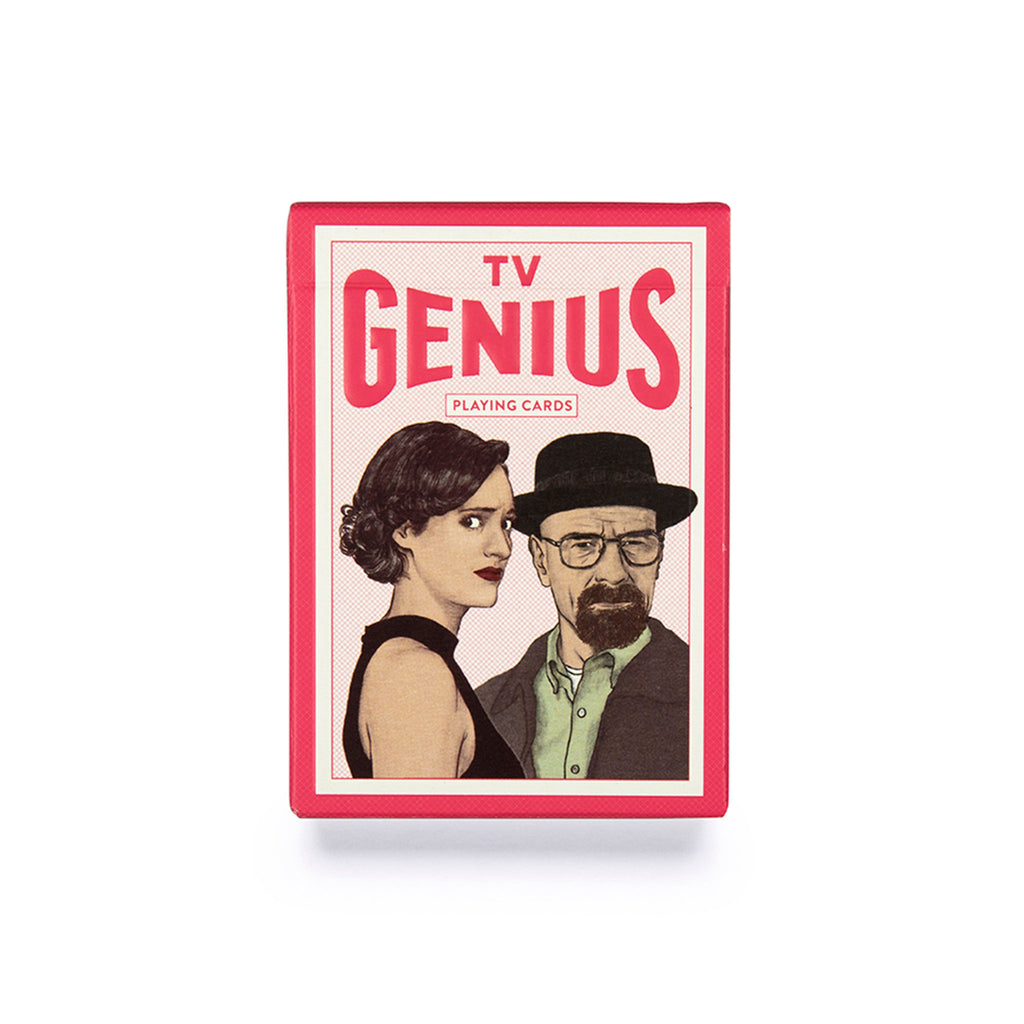 chronicle laurence king genius tv playing cards deck box front