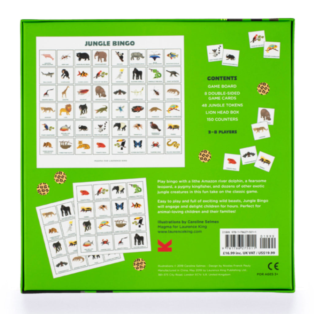 chronicle laurence king jungle bingo for kids packaging back