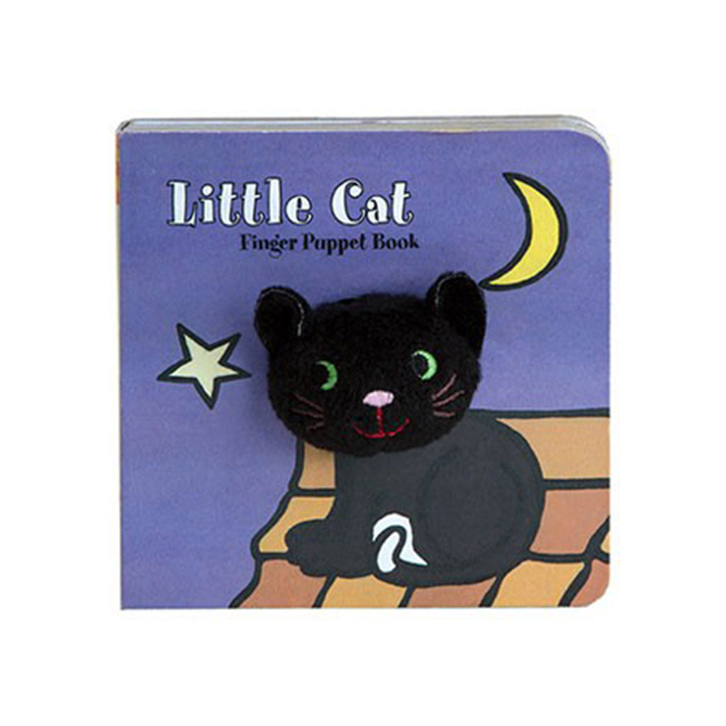 little cat finger puppet halloween board book cover