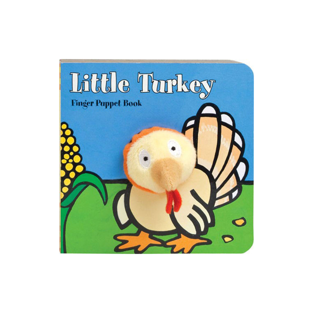 chronicle little turkey finger puppet thanksgiving board book