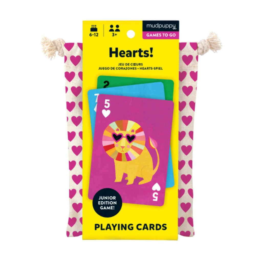 chronicle mudpuppy hearts playing cards to go in packaging